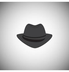 Grey vintage hat with a brim vector image