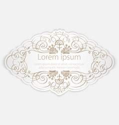 Invitation or wedding card with elegant floral vector