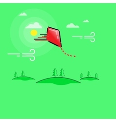 Kites and Clouds outline art vector image vector image