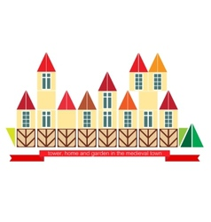 Medieval town vector