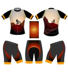 Mtb cycling vest vector
