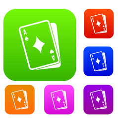 playing card set collection vector image vector image