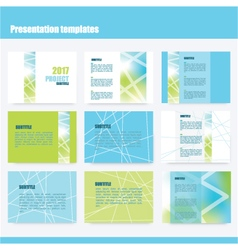 Presentation templates vector