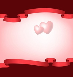 red ribbons frame vector image