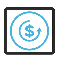Refund framed icon vector