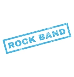 Rock band rubber stamp vector