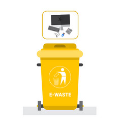 Rubbish container for e-waste icon recycle sorting vector
