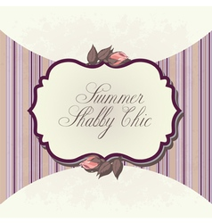 shabby chic background vector image vector image