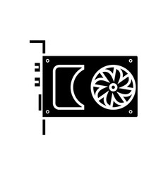 sound card - video card icon vector image
