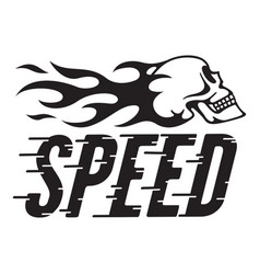 speed retro design with speed lines and fla vector image vector image