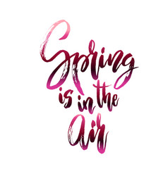 Spring in air quote vector