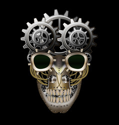 Steam punk skull vector image