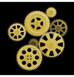 system of gears vector image vector image