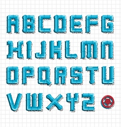 Water pipe alphabet vector