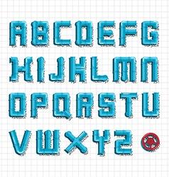 Water pipe alphabet vector image