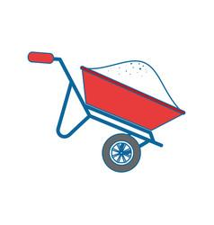 Wheelbarrow construction tool vector