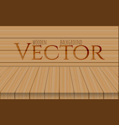 Wood table top on oak background vector