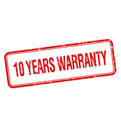 10 years warranty vector