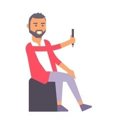 Artist creative boy character vector