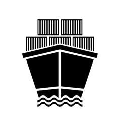 Freigther cargo ship vector