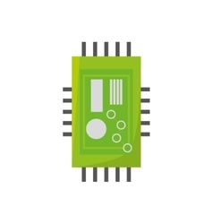 Microchip hardware component computer vector