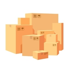 Carton boxes delivery packaging Pile various of vector image