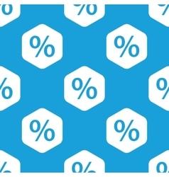 Percent hexagon pattern vector