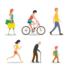 People on street vector