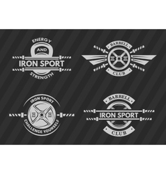 Set of sports emblems logos symbols vector
