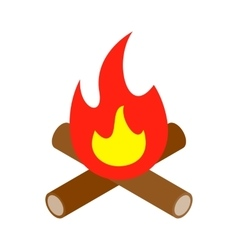 Bonfire isometric 3d icon vector