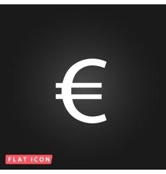 Euro flat icon vector image