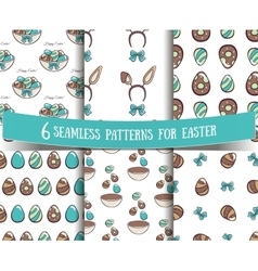 Set of seamless patterns easter vector