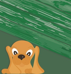 Drawing of a little dog copy vector image