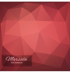 Abstract polygonal background marsala vector