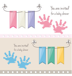 Baby shower invitation to gift welcome the child vector