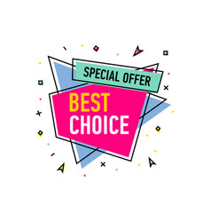Best choice sticker in trendy linear style vector