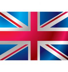 Britain flag ripple vector image vector image