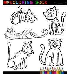 Cartoon Cats or Kittens for Coloring Book vector image vector image