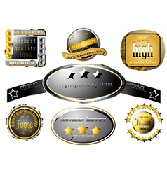Collection glossy high quality label vector image
