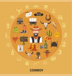 Cowboy round composition vector