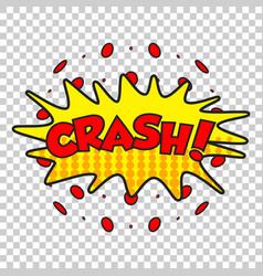Crash comic sound effects sound bubble speech vector