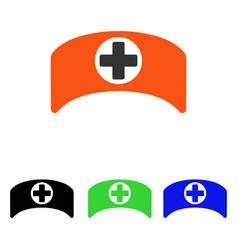 Doctor cap flat icon vector