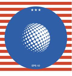 earth logo - halftone sphere vector image vector image