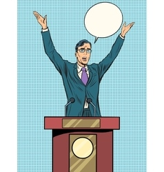 Emotional politician electoral debates vector