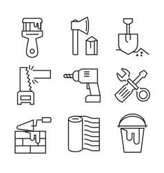 flat tools repair vector image vector image