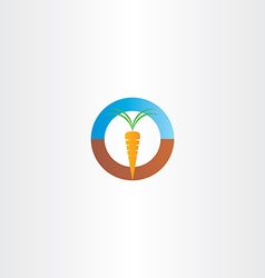 Fresh carrot icon logo vector