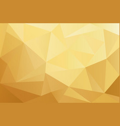 golden geometric shapes polygon background vector image