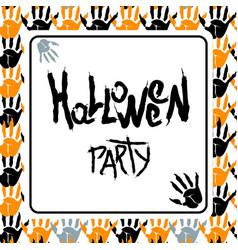 happy halloween white poster vector image