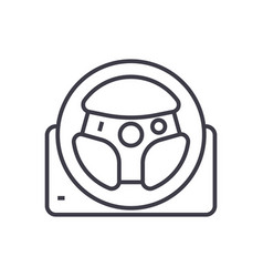 helm line icon sign on vector image vector image