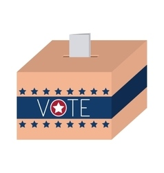 Isolated box of vote design vector
